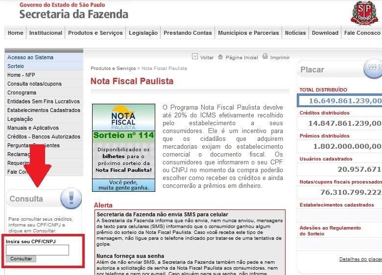 Como se Cadastrar na Nota Fiscal Paulista