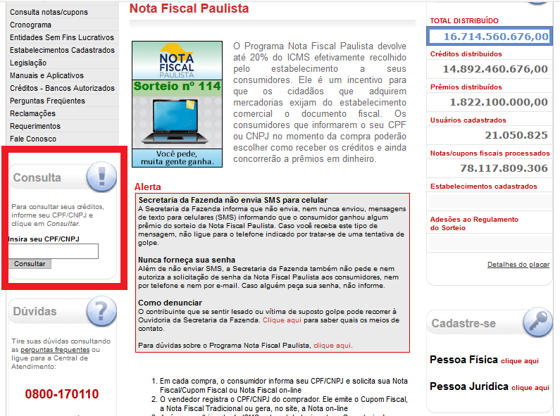 Como Retirar O Valor Recebido Com O CPF Na Nota Paulista