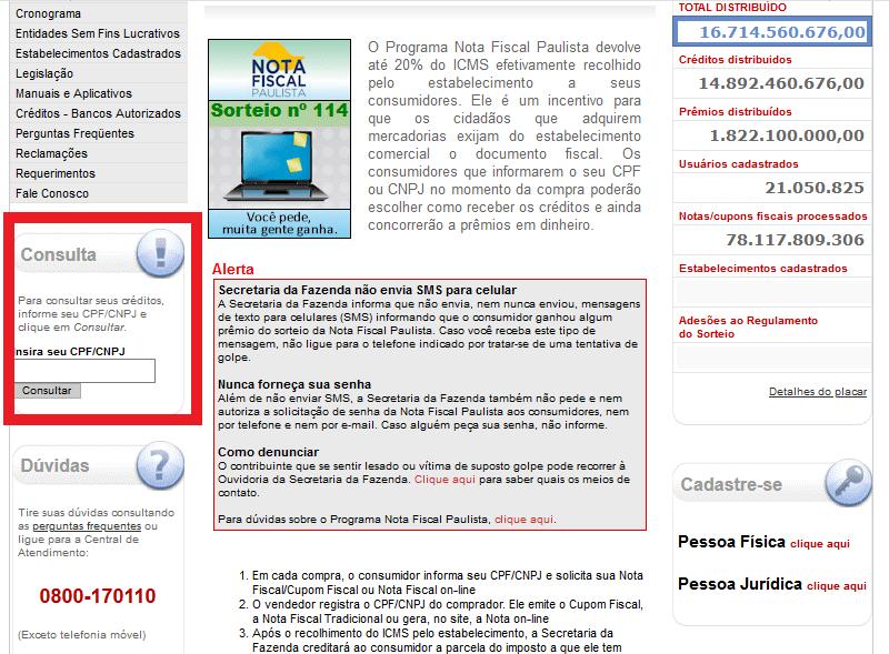 Como Retirar Os Créditos Do CPF Na Nota Paulista